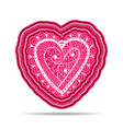 layered paper art with lacy ornate heart vector image