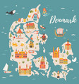 map of kingdom of denmark vector image vector image