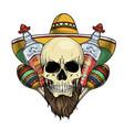 mexican sketch skull vector image vector image