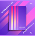 minimal design background with colorful gradient vector image