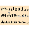 Obese people and good appetite pictogram vector image vector image