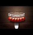 oktoberfest with typography lettering vector image vector image