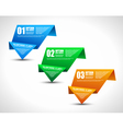 Origami Ranking tabs vector image vector image