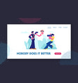 photographer making photo wedding couple vector image vector image