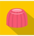 Pink fruit jelly icon flat style vector image vector image