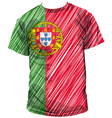 Portugal tee vector image