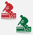 price madness bmx label sticker vector vector image