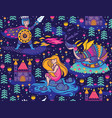 princess seamless pattern for textile with castle vector image vector image