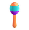 rattle toy icon cartoon style vector image vector image