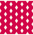 red geometric seamless pattern with rhombuses vector image vector image