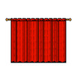 retro pixel art red curtain isolated vector image
