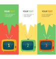 retro tv option banner Flat Design vector image vector image