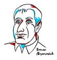 roman abramovich portrait vector image