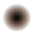 Round halftone screen pattern in CMYK colours on vector image vector image