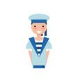 sailor boy character in blue uniform vector image
