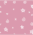 seamless simple abstract pattern hand drawn stars vector image