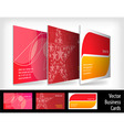 set of business cards vector image vector image