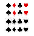 set symbols deck cards for playing poker vector image vector image