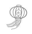 sketch chinese red lanterns vector image vector image