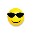smiley with sunglass yellow vector image vector image