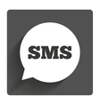SMS speech bubble icon Information symbol vector image