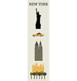 symbols new york vector image vector image