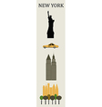 Symbols of New York vector image