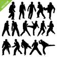 Taekwondo silhouettes vector image