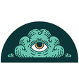 tattoo style icon an all seeing eye cloud vector image vector image
