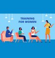 training for women coach communicate with client vector image vector image