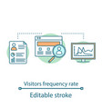 visitor frequency rate concept icon vector image vector image