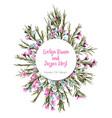 watercolor colorful circular floral wreaths vector image vector image
