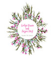 watercolor colorful circular floral wreaths with vector image