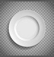 white empty ceramic plate top view template vector image vector image