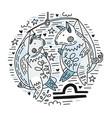 zodiac signes libra vector image vector image