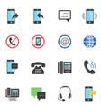 Color icon set - communication vector image
