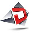 D 3d letter vector image