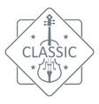 violin logo simple gray style vector image
