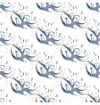 Blue birds seamless background vector image