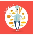 chef next to bakery vector image