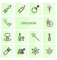 14 explosion icons vector image vector image