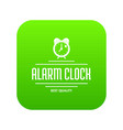 Alarm clock icon green
