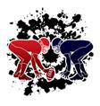 american football prepare to battle graphic vector image vector image