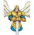 archangel michael portrait vector image vector image