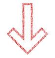 arrow down fabric textured icon vector image vector image