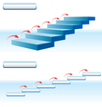 arrow upstairs vector image vector image