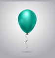 beautiful shiny balloon with ribbon isolated on vector image vector image