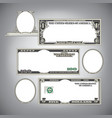 Blank Money vector image vector image