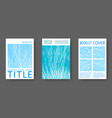 booklet design layouts set vector image