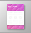 brochure design with geometric background vector image